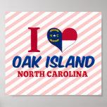 Isla del roble, Carolina del Norte Poster