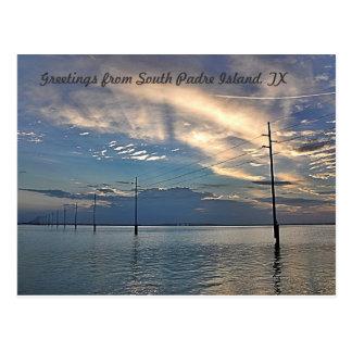 Isla del sur de Padre de la puesta del sol hermosa Tarjetas Postales
