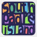Isla del sur de Padre Calcomanía Cuadradas Personalizadas