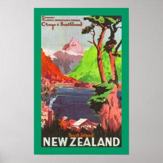 Isla del sur Nueva Zelanda (frontera) Posters