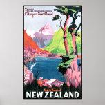 Isla del sur Nueva Zelanda Impresiones
