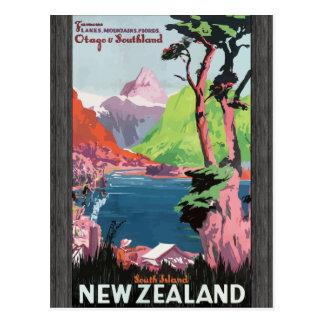 Isla del sur Nueva Zelandia, VI de Flords Otago So Tarjetas Postales
