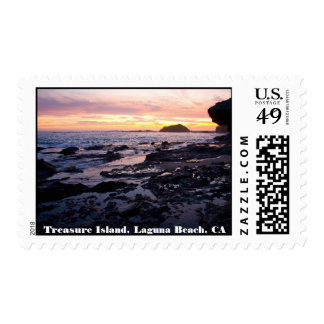 Isla del tesoro, Laguna Beach, franqueo de CA