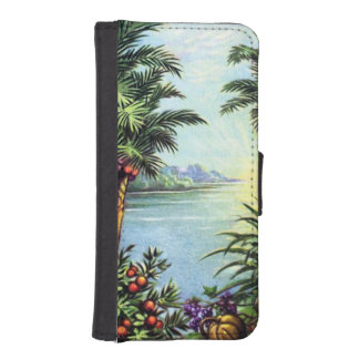 Isla del vintage funda tipo cartera para iPhone 5