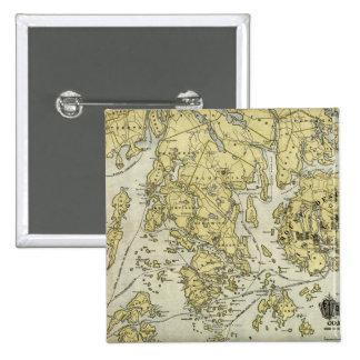 Isla desierta del soporte y costa del mapa de Main Pin Cuadrado
