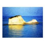 Isla en colores pastel tarjetas postales