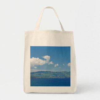 Isla en el horizonte bolsa tela para la compra
