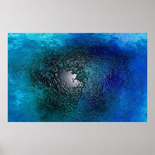 Isla en el mar azul, Abtsract Impresiones