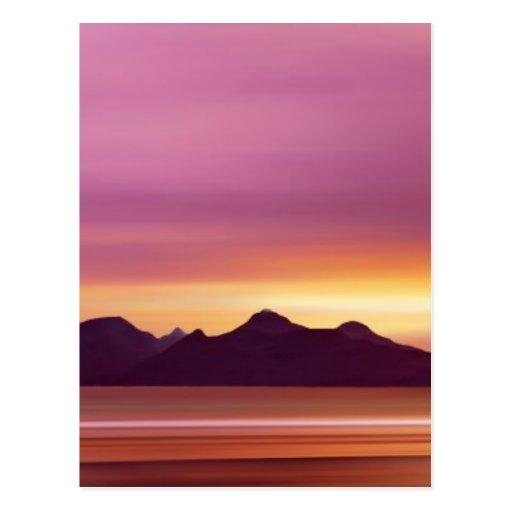 Isla escocesa mágica postal