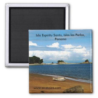 Isla Espiritu Santo, Islas las Perlas, Panama 2 Inch Square Magnet