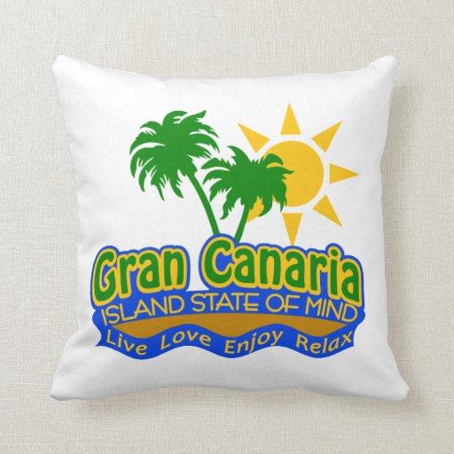 Isla estado de Gran Canaria de la almohada de la m