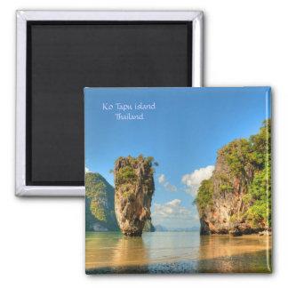 Isla famosa de Ko Tapu en Tailandia Imán Cuadrado