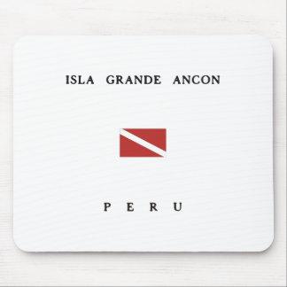 Isla Grande Ancon Peru Scuba Dive Flag Mouse Pad