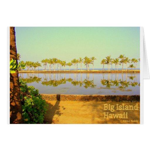 Isla grande de las palmas de Hawaii Tarjeta