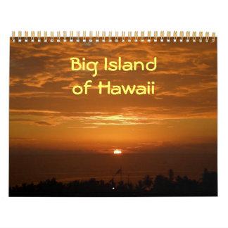 Isla grande del calendario de Hawaii