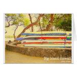 Isla grande Hawaii de las canoas Tarjetas