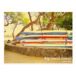 Isla grande Hawaii de las canoas Tarjetas Postales