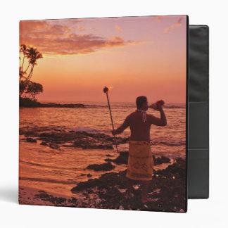 """Isla grande, Hawaii. Puesta del sol, isla grande H Carpeta 1 1/2"""""""