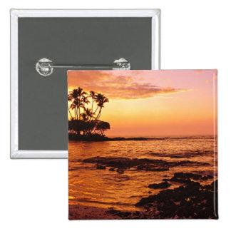 Isla grande, Hawaii. Puesta del sol, isla grande H Pins