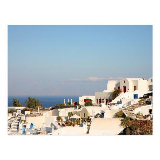 Isla Grecia de Santorini Tarjetas Postales