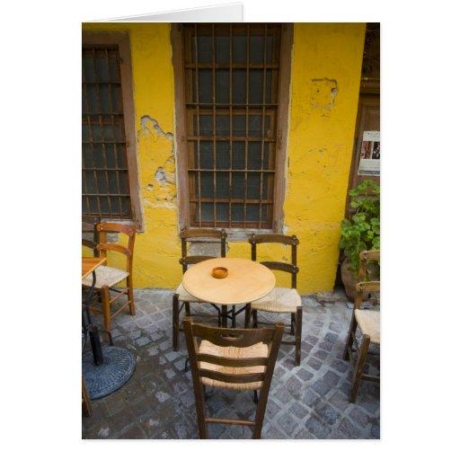 Isla griega de Creta y de la ciudad vieja de Chani Tarjeta De Felicitación
