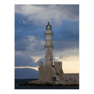 Isla griega de Creta y de la ciudad vieja de Chani Tarjeta Postal