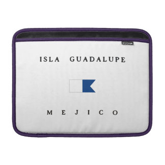 Isla Guadalupe Mejico Alpha Dive Flag MacBook Air Sleeve