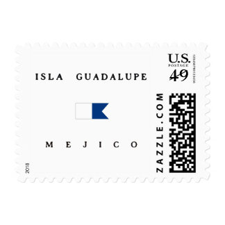 Isla Guadalupe Mejico Alpha Dive Flag Stamps