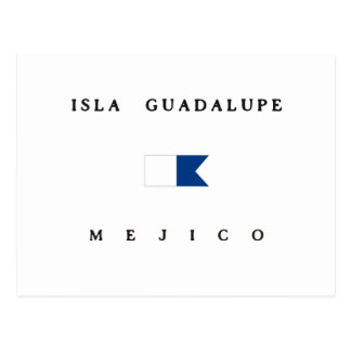 Isla Guadalupe Mejico Alpha Dive Flag Postcard