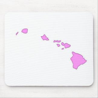 isla hawaiana rosada alfombrillas de ratones
