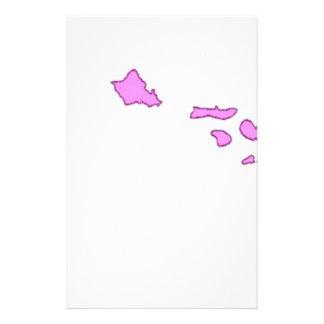 isla hawaiana rosada papeleria de diseño