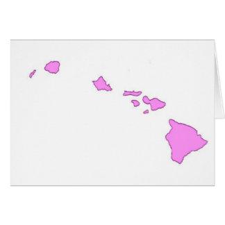 isla hawaiana rosada tarjeta