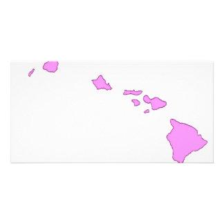 isla hawaiana rosada tarjeta personal