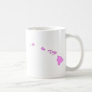 isla hawaiana rosada tazas