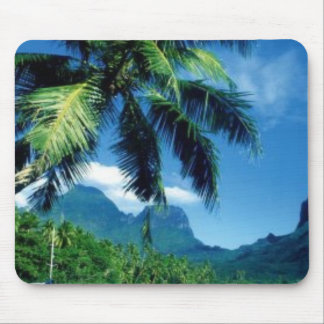 Isla hermosa de Moorea en Tahití Alfombrillas De Ratones