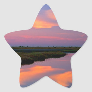 Isla la Florida de Merritt de la salida del sol Calcomania Cuadrada Personalizada