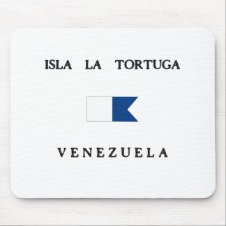 Isla La Tortuga Venezuela Alpha Dive Flag Mouse Pad