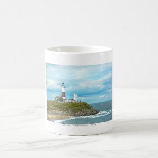 Isla larga taza básica blanca