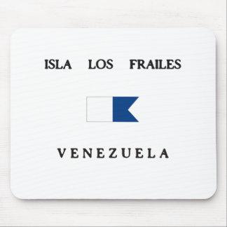 Isla Los Frailes Venezuela Alpha Dive Flag Mouse Pads