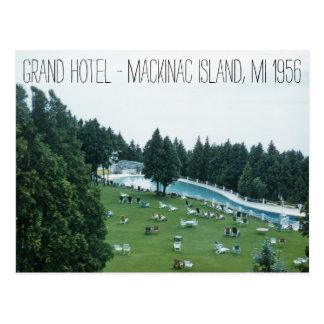 Isla magnífica 1956 de Mackinac del hotel Michigan Postal