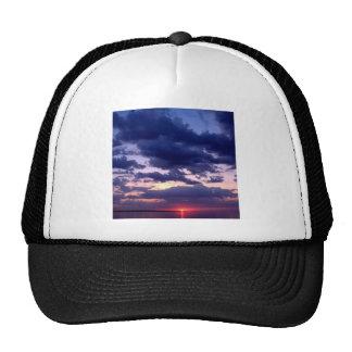 Isla magnífica Michigan de la puesta del sol Gorros