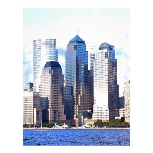 isla Manhattan de New York City Plantillas De Membrete