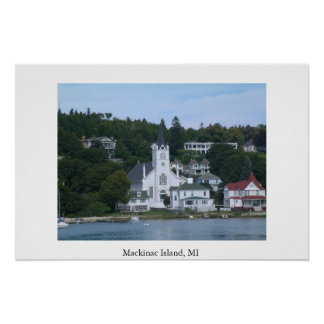 Isla MI de Mackinac Póster