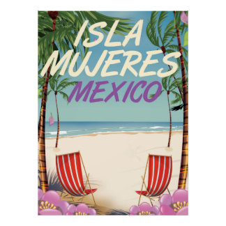 Isla Mujeres Mexico Beach poster