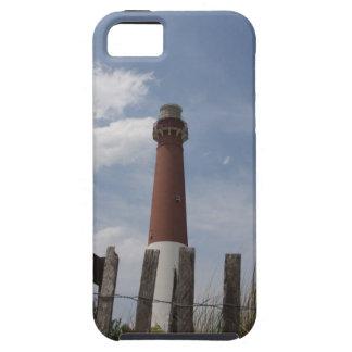 Isla New Jersey de Long Beach del faro de Barnegat iPhone 5 Cárcasas