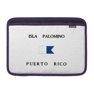 Isla Palomino Puerto Rico Alpha Dive Flag MacBook Sleeves
