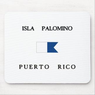 Isla Palomino Puerto Rico Alpha Dive Flag Mouse Pad