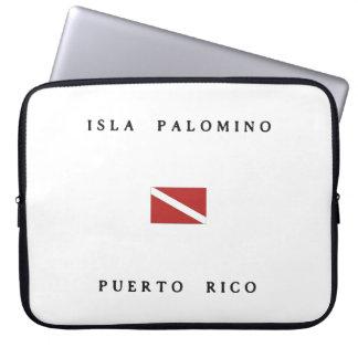 Isla Palomino Puerto Rico Scuba Dive Flag Laptop Computer Sleeve