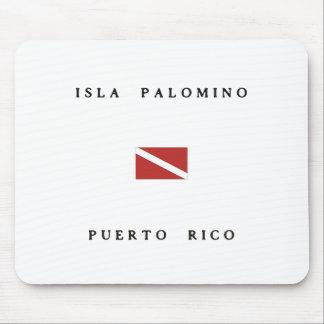 Isla Palomino Puerto Rico Scuba Dive Flag Mouse Pad