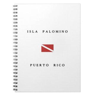 Isla Palomino Puerto Rico Scuba Dive Flag Notebook